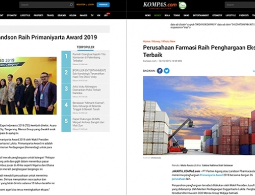 Coverage of Primaniyarta Award for Landson in KOMPAS.COM