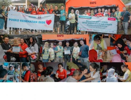 Mensa Group, Halodoc dan Watsons Tanggap Bencana di Sukajaya Bogor